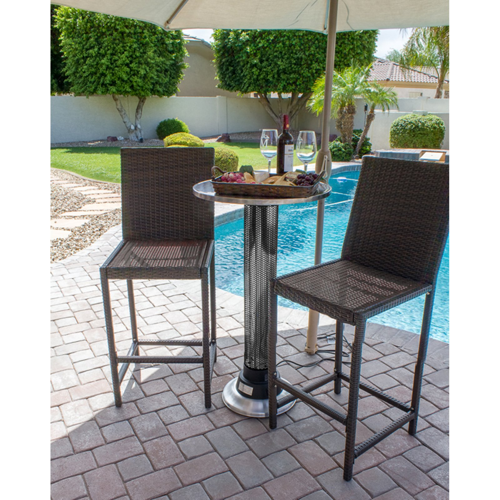 Hiland Pub Table with Builtin Electric Heater Walmartcom