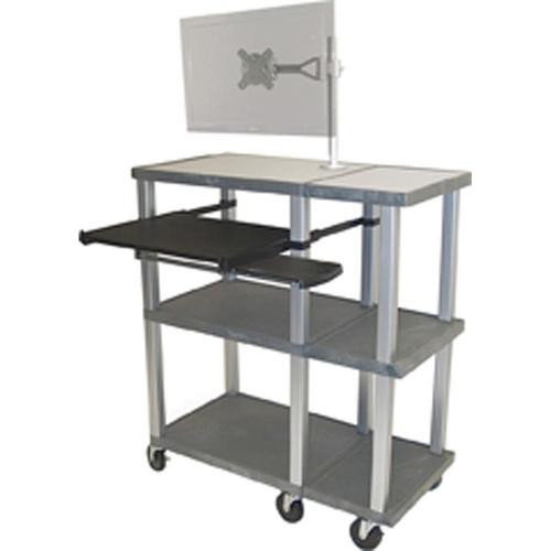 H. Wilson Company Tuffy 70 Series Open Shelf Presentation Station with Monitor Mount