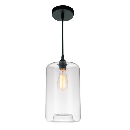 VIVA LIFESTYLE LIGHTING 1 Light Down Mini Pendant with Clear finish - image 2 of 2