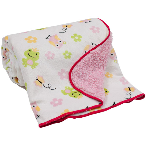 Lambs & Ivy Bedtime Originals Magic Kingdom Velour Sherpa Back Blanket