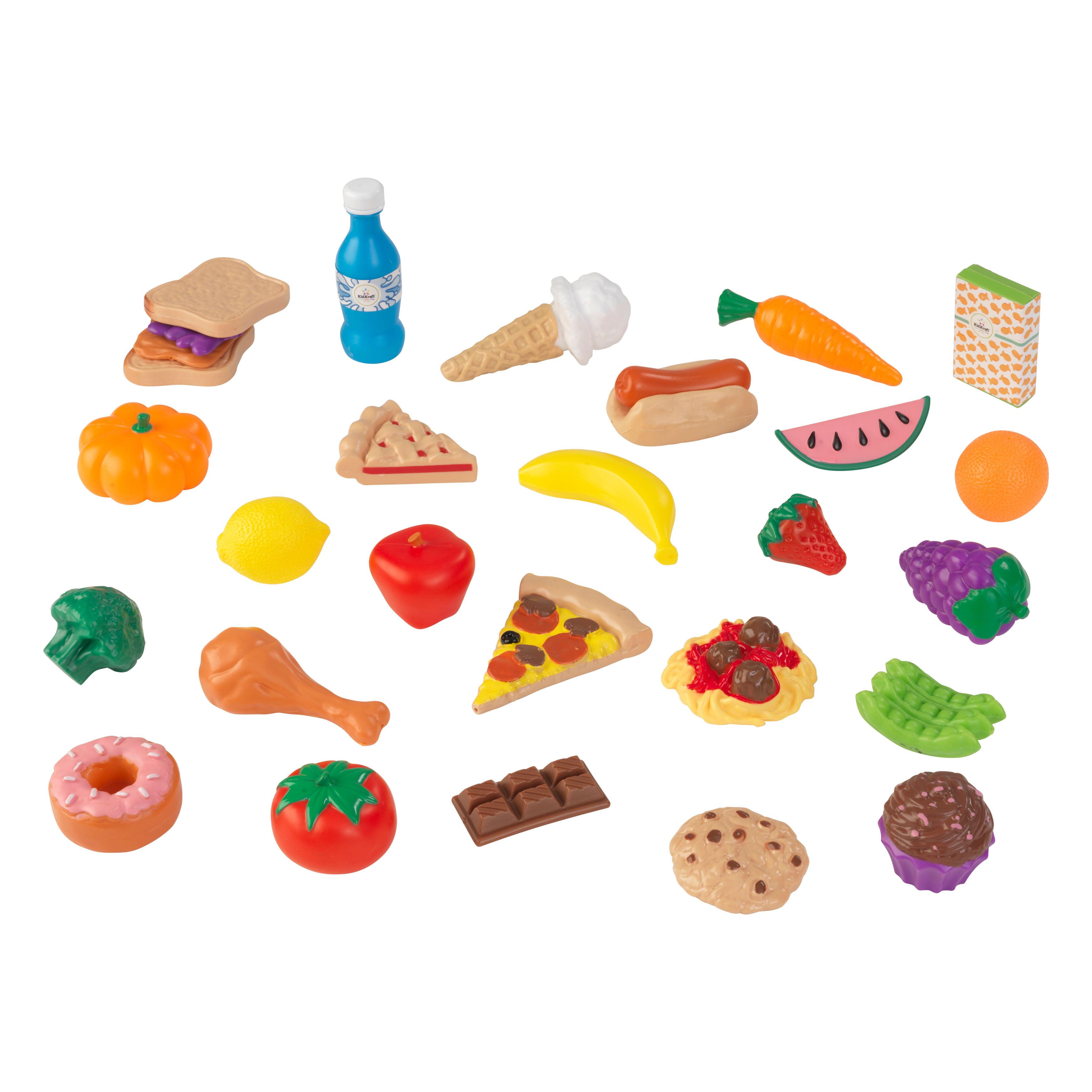 Kidkraft Kitchen Accessories kidkraft uptown espresso kitchen with 30 piece play food - walmart