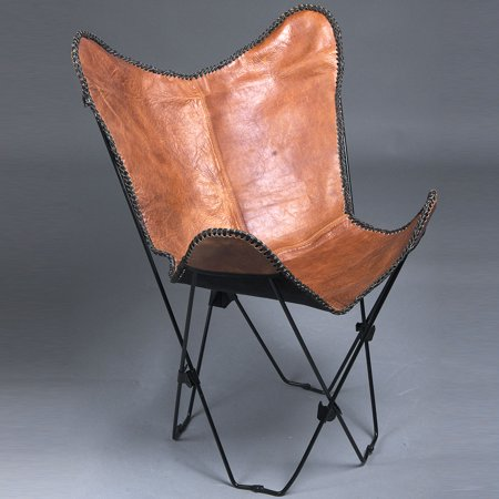 Cb149 F Genuine Leather Butterfly Chair Folding Lounge