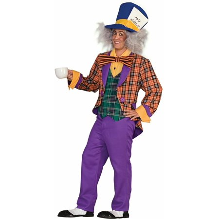 Mad Hatter Adult Halloween Costume, Size: Men's - One Size (Mad Hatter Dc Halloween)