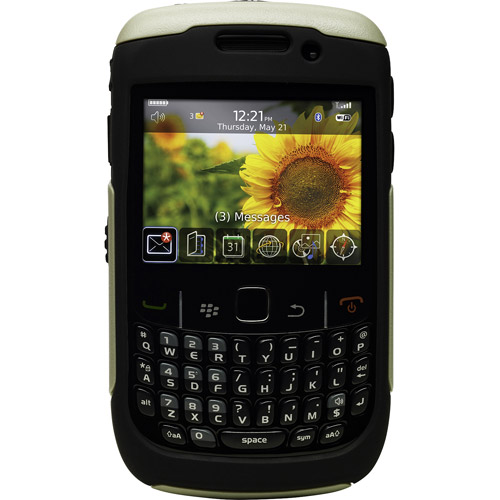 Otterbox - Commuter Case for Blackberry Curve 8520, 8530, 9300 - Black/Gray