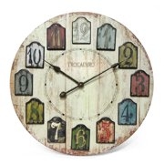 Infinity Instruments Weathered Plank 23.75 in. Antique Wall Clock