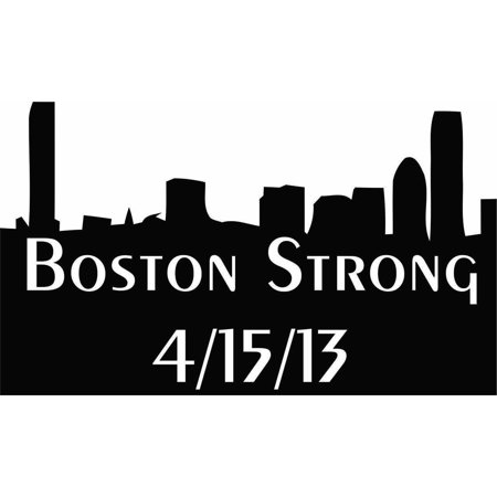 "Wall Design Pieces Boston Strong / Memorial Marathon 6""X 4"" Car Bumper Support Expolsion Kids Family Tribute Rememberance 4-15-13"