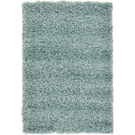 Unique Loom Solid Shag Contemporary Area Rug or Runner