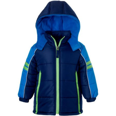 Baby Toddler Boy Colorblock Active Puffer Jacket Coat