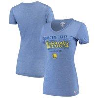 Golden State Warriors Sportiqe Women's Kiera V-Neck T-Shirt - Royal