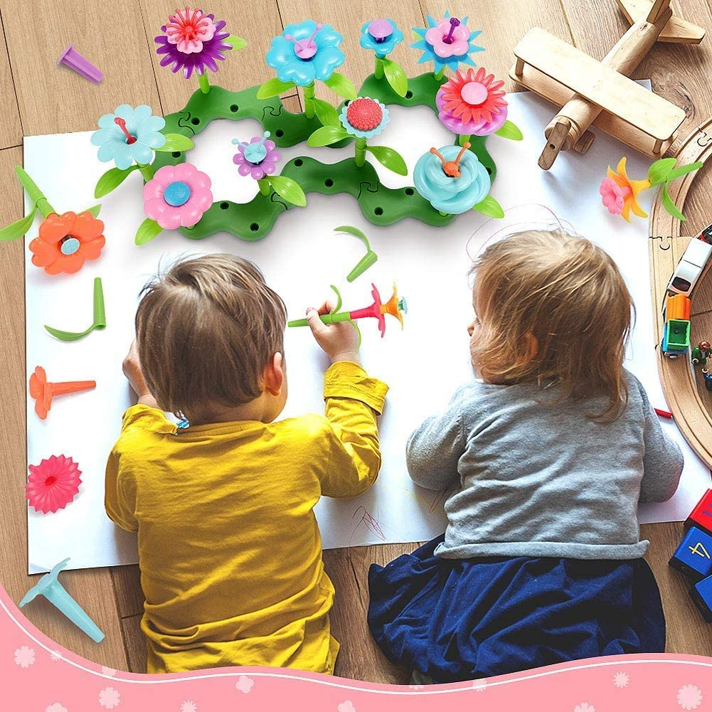 Flower Garden Building Toy Set for 3, 4, 5, 6 Year Old ...