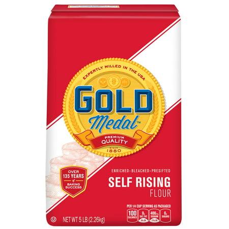 (2 Pack) Gold Medal Self-Rising Flour, 5 lb Bag
