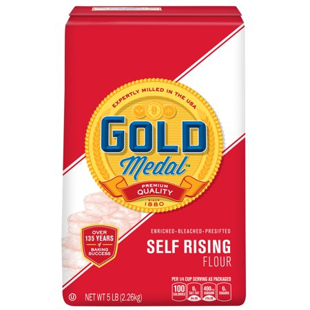 (2 Pack) Gold Medal Self-Rising Flour, 5 lb Bag Brulee 5 Lb Bag