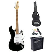 Pyle PEGKT15B - Beginners Electric Guitar Kit, Includes Amplifier & Accessories (Black)