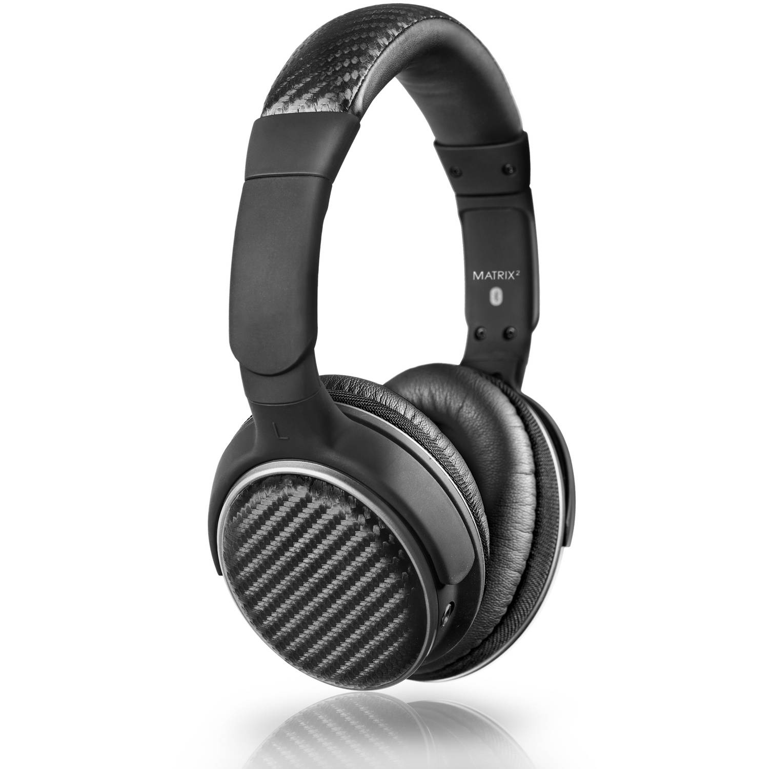 MEE audio Air-Fi Matrix2 Bluetooth Wireless + Wired High-Fidelity Headphones with Headset and aptX, AAC and NFC Support