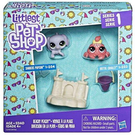 01c8e558deff Littlest Pet Shop Series 1 Beachy Peachy Mini Figure 2-Pack [Sanders Pupson  & Dottie Crabley]