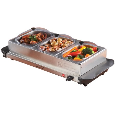 1 Buffet Server (Brentwood Triple Buffet Server w/ Warming Tray)