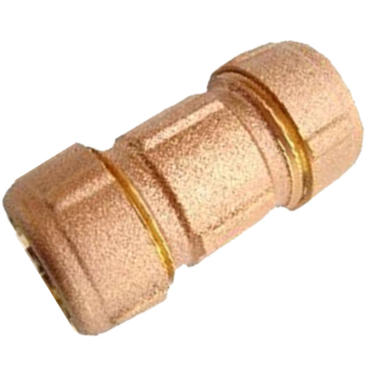 "1"" IPS 1 1/4"" CTS Brass Dresser Coupling"