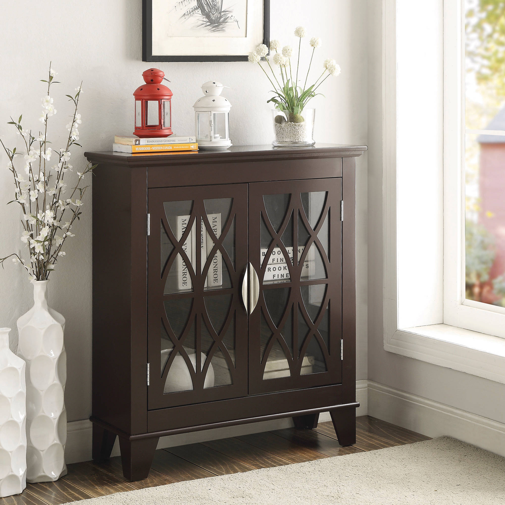 Coaster Warm Brown Accent Cabinet