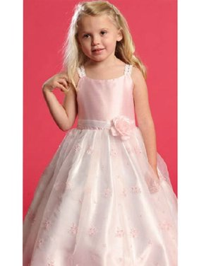 Pink Dress Size 4T Faux Shantung Flower Girl