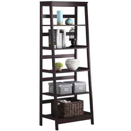 Yaheetech 5-Tier A Frame Wood Ladder Shelf Bookcase Multifunctional ...