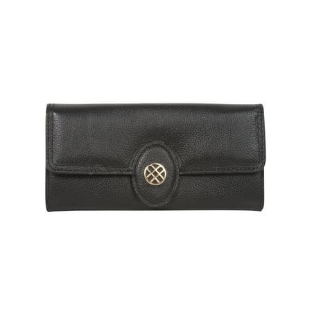Buxton Expandable Clutch Ladies Wallet - Black (Black Buxton Wallet)