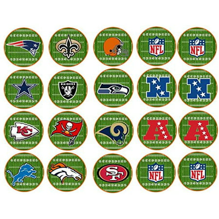 40 Football Teams Edible Frosting Image Cookie or Cupcake Toppers* ()