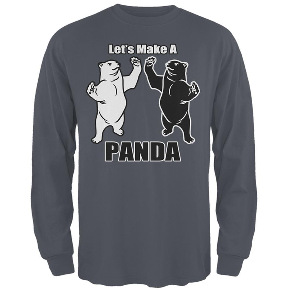Let's Make A Panda Funny Mens Long Sleeve T Shirt