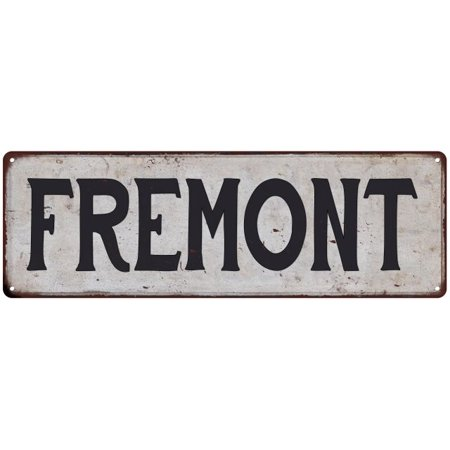 FREMONT Vintage Look Rustic Metal 6x18 Sign City State 206180041111](Party City In Fremont)