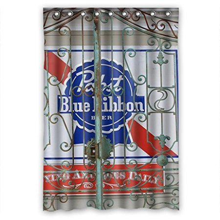Ganma Pabst Blue Ribbon Durable Shower Curtain Polyester Fabric Bathroom 48x72 Inches