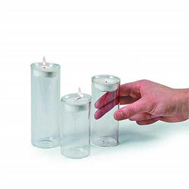 Glass Cylinder Tea Light Holders S 3 Home Decor 3 Pieces Walmart Com Walmart Com