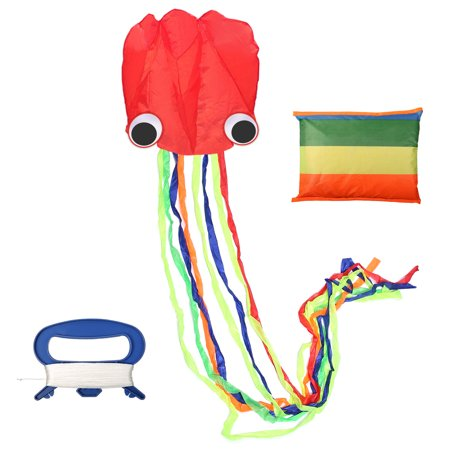 4 M Kites Line Large Octopus Kite with Handle Line Children Kites Surfing with 30 Meters Line