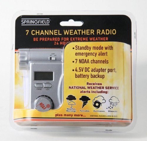 Springfield 91418 Weather & Alert Radio - VHF - 7 Weather - Taylor