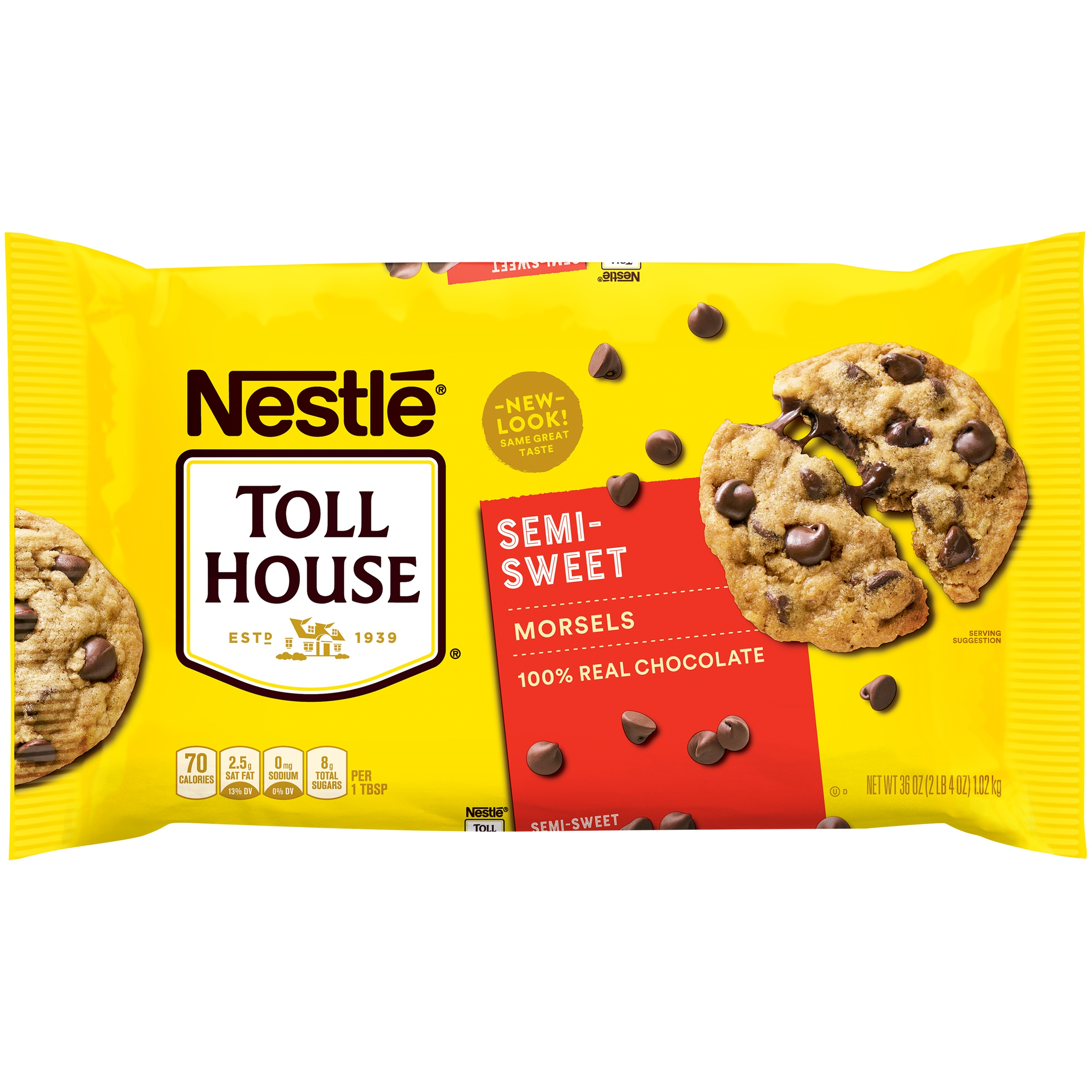Nestle Toll House Semi Sweet Chocolate Chip Morsels 36 Oz Bag