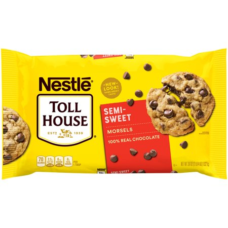 NESTLE TOLL HOUSE Semi-Sweet Chocolate Morsels 36 oz. (Nestle Chocolate Sugar)