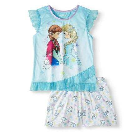 Girls' Frozen 2-Piece Pajama Sleep Set (Girls Sleep Wear)