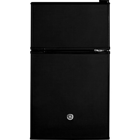 - GE Appliances 3.1 Cu Ft Two Door Compact Refrigerator, Black