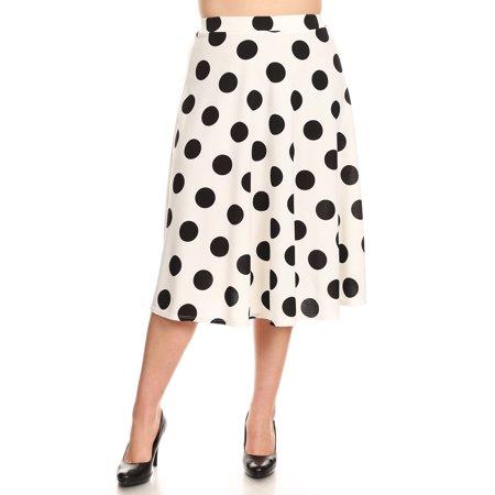Women's Plus Size Polka Dot Skirt (Polka Dot Skirt Halloween)