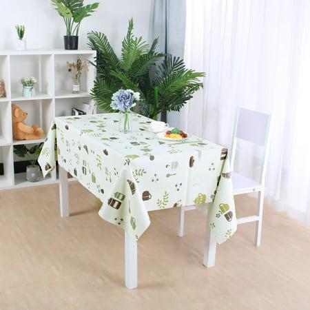 "Tablecloth PVC Rectangle Table Cover Oil Resistant Table Cloth 39"" x 63"", #5 - image 3 de 7"