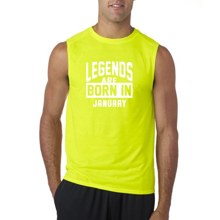 New Way 654 - Men's Sleeveless Legends Are Born In January Capricorn Aquarius
