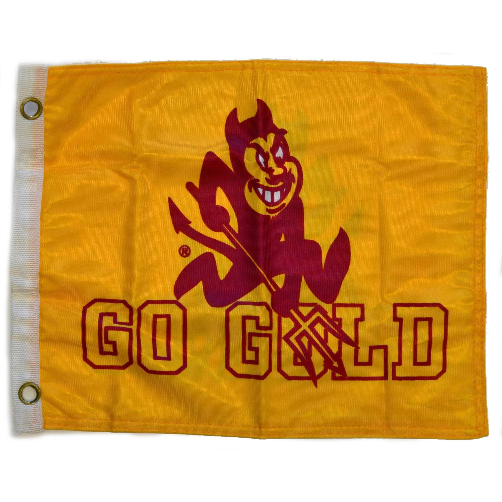 "Flagpole To Go 14"" x 15"" Az State Sun Devils Golf Cart Flag"