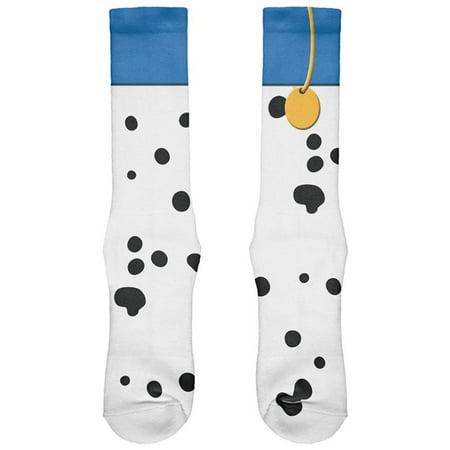 Halloween Dog Dalmatian Blue Collar Costume All Over Soft Socks