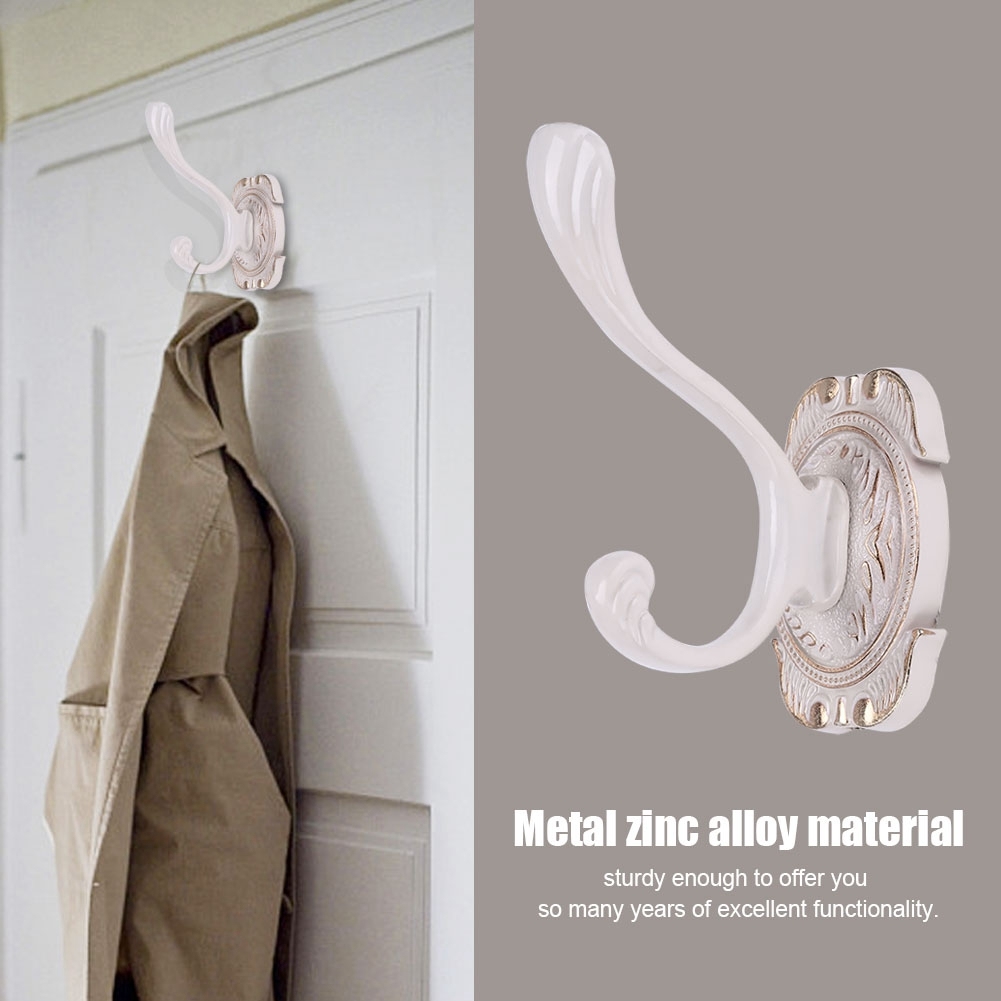 18 x Wall Mount Hook Towel Cloth Coat Rack Hanger Holder Bathroom Kitchen