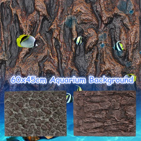 Moaere 3D PU Rock Stone Reptile Aquarium Background Backdrop Reptile Board Fish Tank