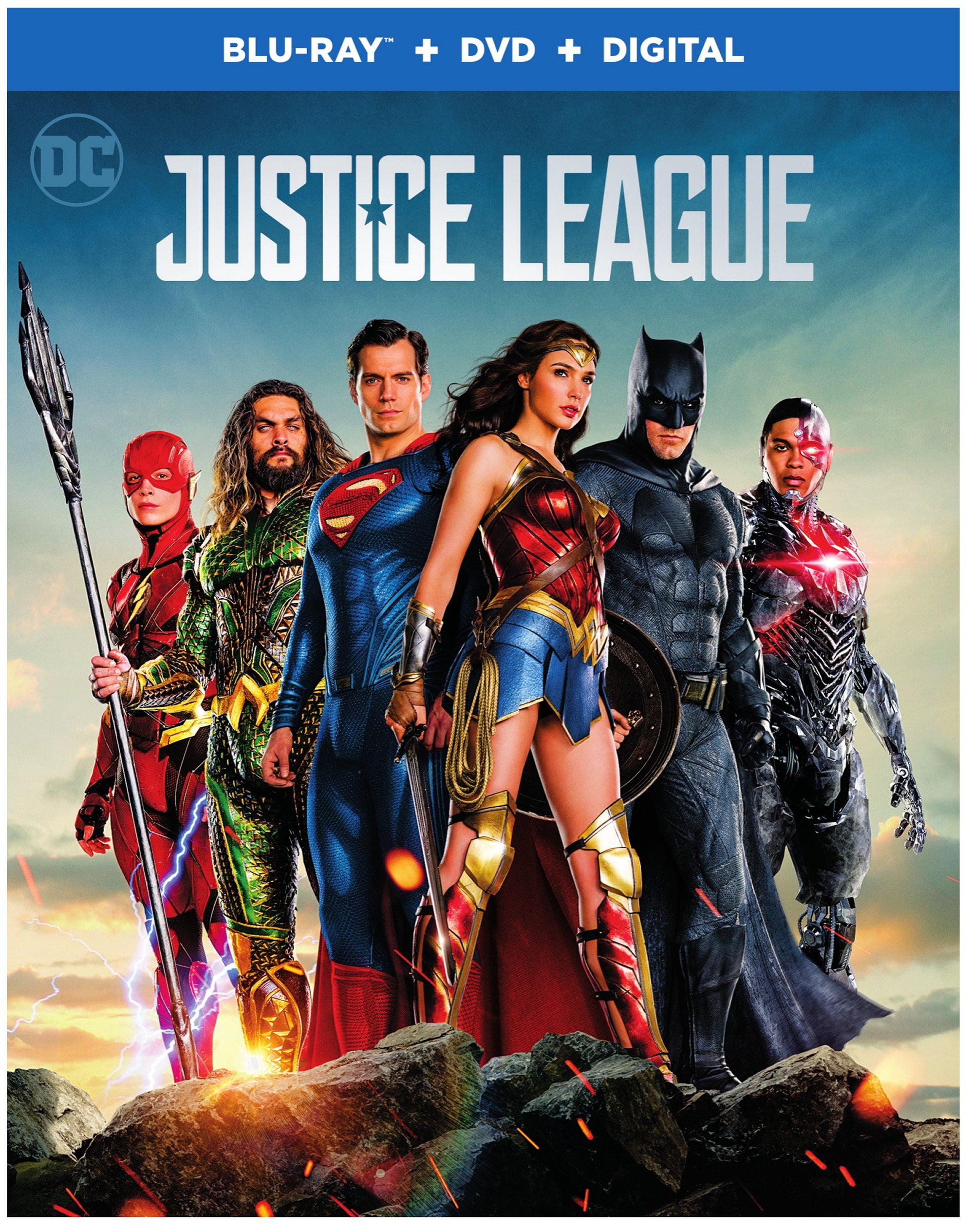 Justice League (2017) (Blu-ray + DVD + Digital) - Walmart.com