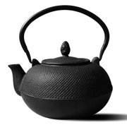 "3 Liter Matte Black Cast Iron ""Hakone"" Teapot/Wood Stove Humidifier (no infuser)"