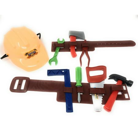 lil handy man pretend play children's toy tool belt set, perfect for ...