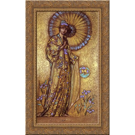 Design for a Mosaic 17x24 Gold Ornate Wood Framed Canvas Art by Whistler, James Abbott McNeill (Wood Mosaic)