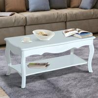 Product Image Homcom Cottage Home Wood Coffee Table