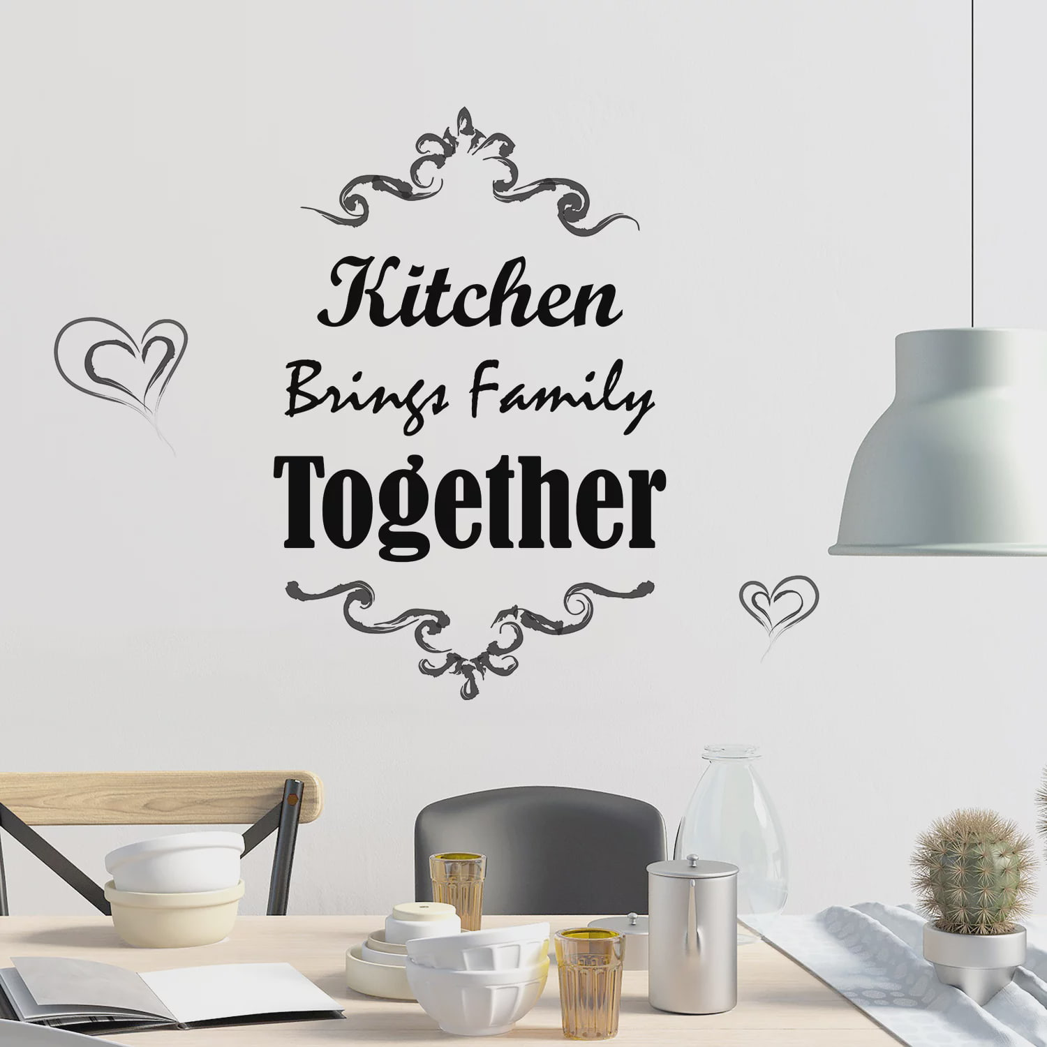 Kitchen Quote Kitchen Brings Family Together, Wall ...