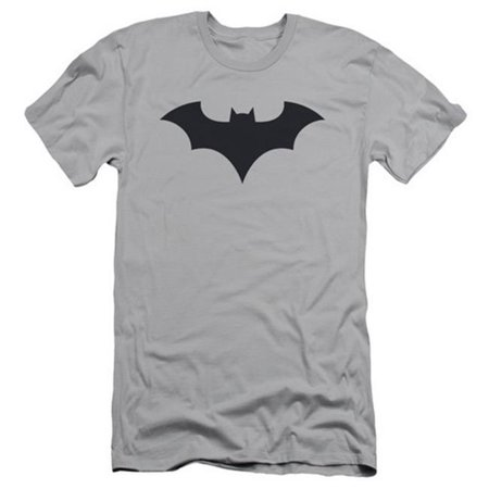 Batman-52 Title Logo - Short Sleeve Adult 30-1 Tee - Silver, Large - image 1 de 1